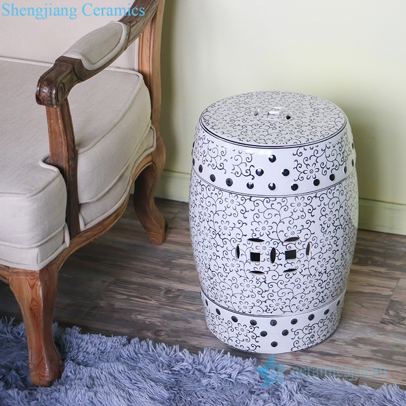 delicate ceramic stool