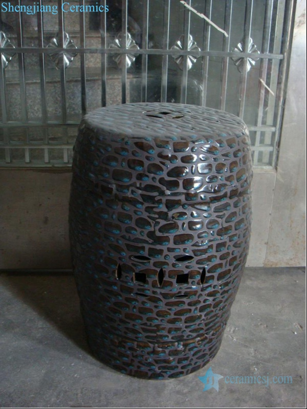 stone design ceramic stool