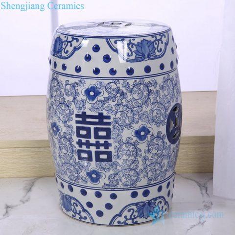 double happiness ceramic stool