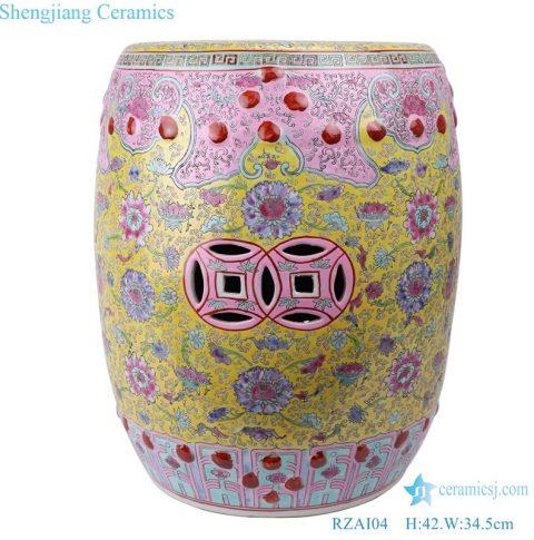 Colorful Jingdezhen Shengjiang ceramic stool