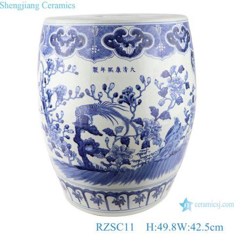 RZSC11 Large blue and white porcelain Garden stool